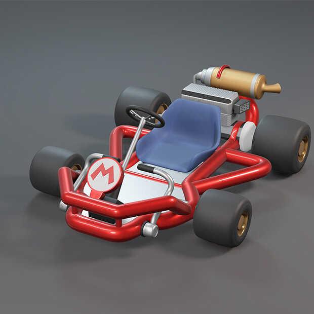 Vet: iemand maakt met drone semi-real-life Mario Kart na