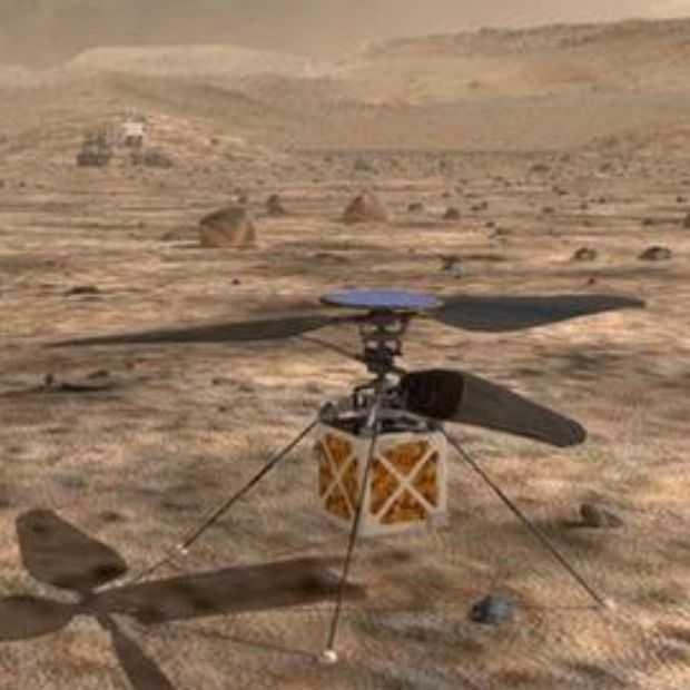 NASA wil in 2021 met een helikopter gaan vliegen op Mars