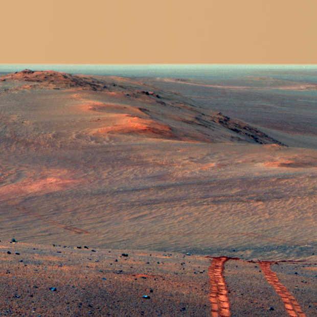 Marsrover Opportunity stopt er na 15 jaar mee