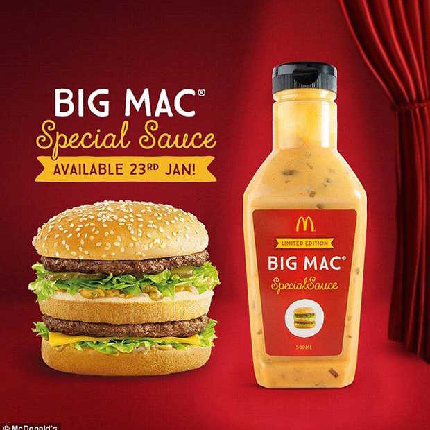 Je kunt de McDonald's Big Mac saus nu in een fles kopen!
