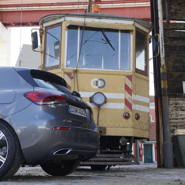 Scavenger hunt in Lissabon met een Mercedes A200