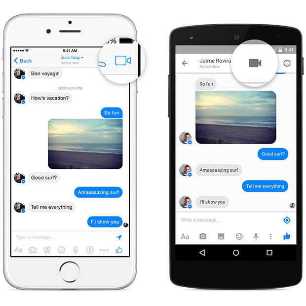Videobellen nu ook vanuit Facebook Messenger