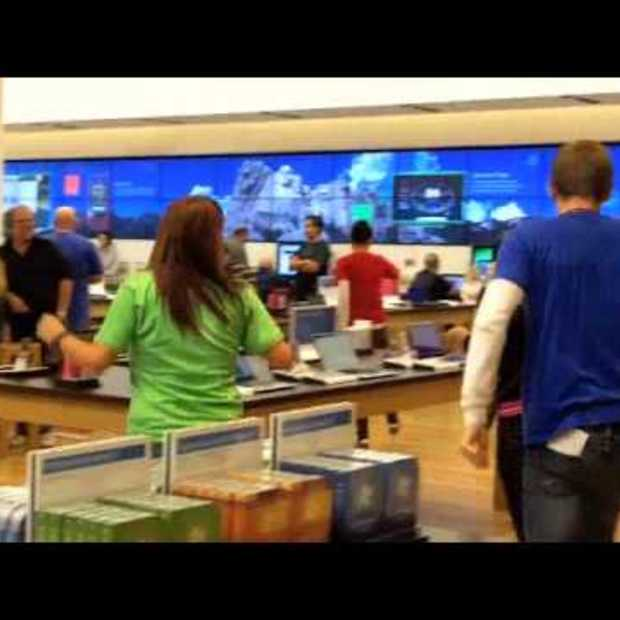 Microsoft Store Unenthusiastically Breaks Into Song