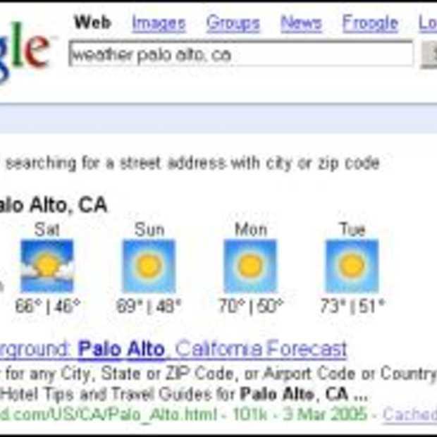 Mijn Google homepage