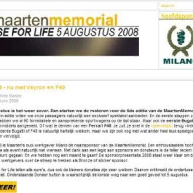 Milano MaartenMemorial 2008: Raise for Life