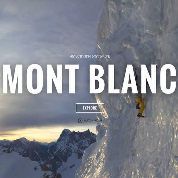 Beklim de Mont Blanc met Google Street View