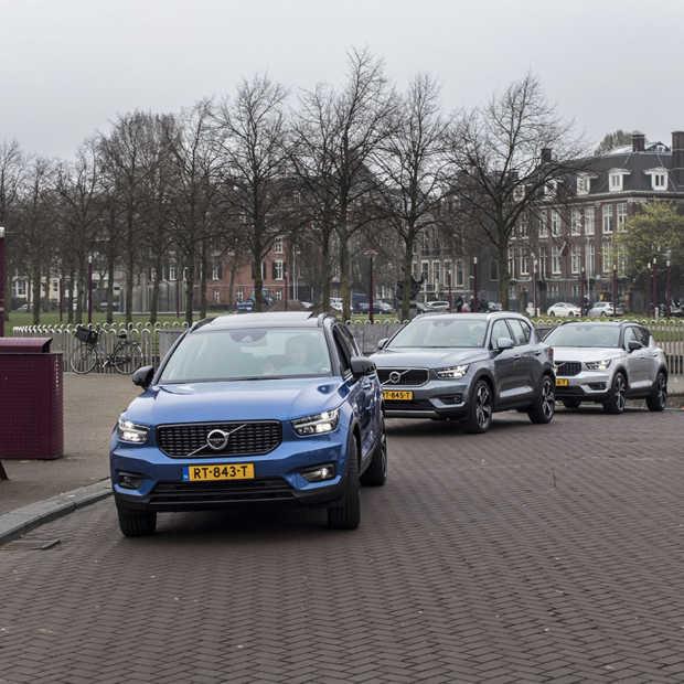 Pop-up Testdrive met de Volvo XC40 door hartje Amsterdam