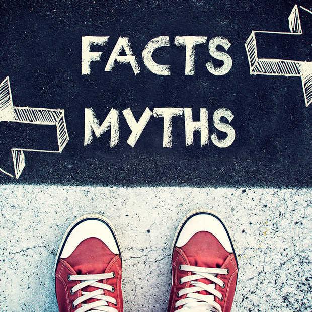 Een infographic met 100 mythen en misvattingen