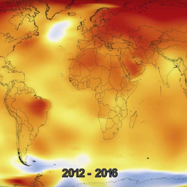 NASA laat zien hoe 'climate change' in de afgelopen 136 jaar er uit ziet