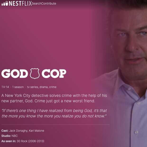 Op Nestflix, de parodie-streamingdienst, vind je alleen maar fake films en series