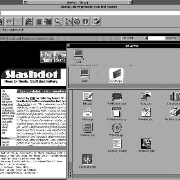 Eerste website ooit live op een echte NeXT Cube in Sneek