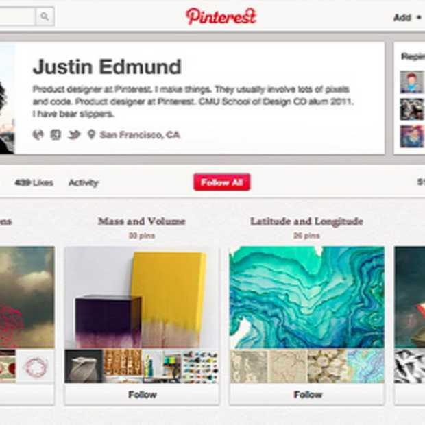 Nieuw design voor Pinterest profielen