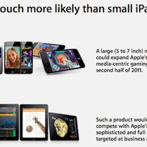 Nieuwe iPad3 wordt een grote iPod Touch, Apple moet wel