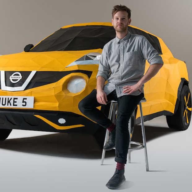 Nissan viert 5e verjaardag JUKE met origami replica op ware grootte