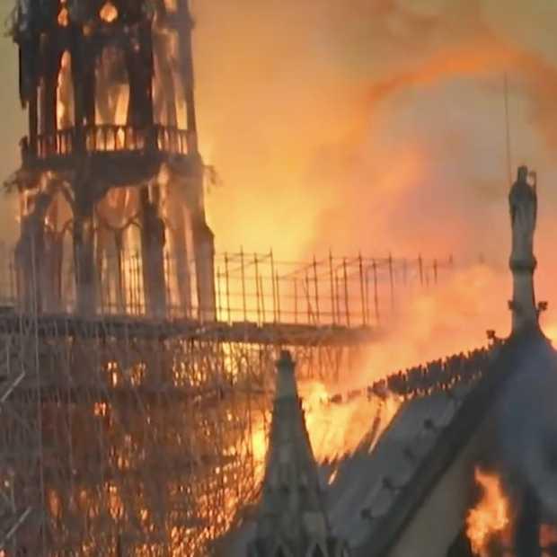 YouTube zag livestreams van brand Notre Dame als nepnieuws