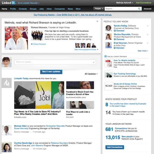 Nu mogelijk om influencers te gaan volgen op LinkedIn