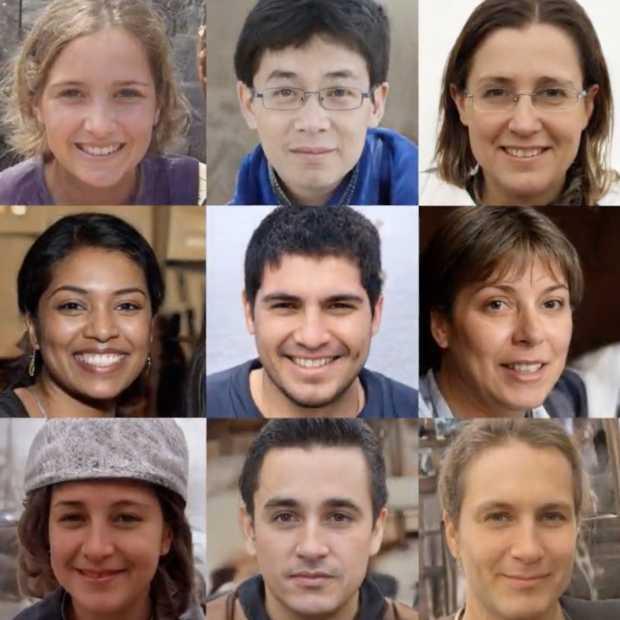 Nvidia AI ontwerpt mensen die niet bestaan