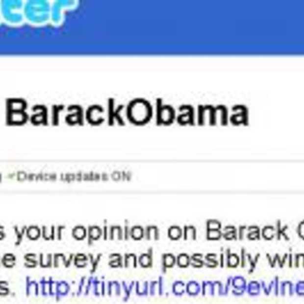 Obama heeft zelf nog nooit Twitter gebruikt