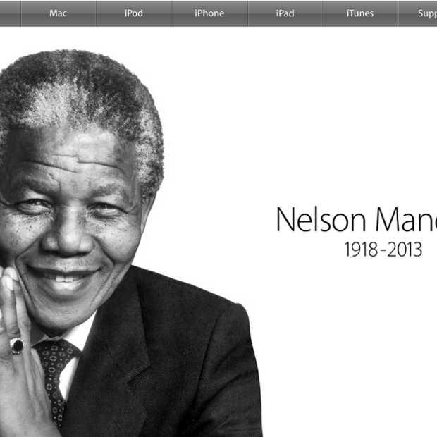 Ook Apple herdenkt Nelson Mandela