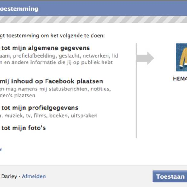 Over de social media privacy grens en (Facebook) Apps