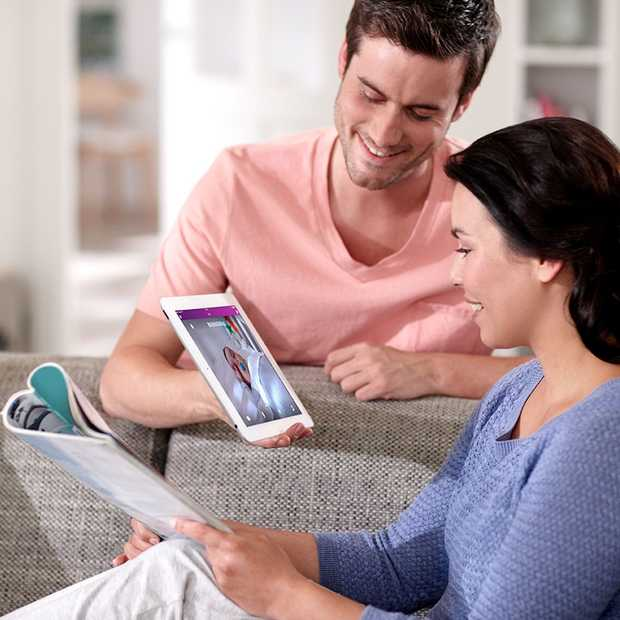 Oog in oog met je baby thuis, via je smartphone of tablet