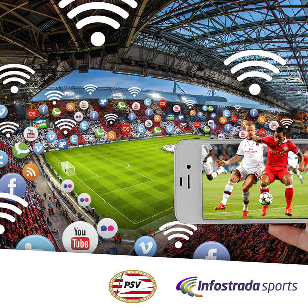Philips Stadion het eerste 'Connected Stadium' in Nederland