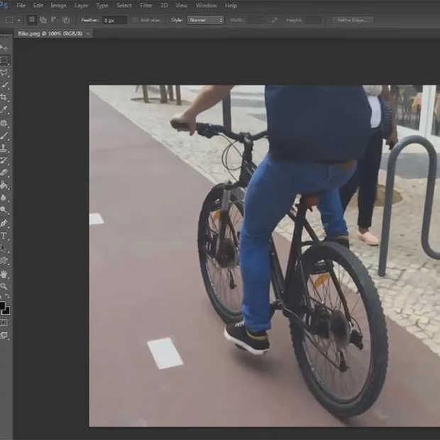 Photoshop skills: zo verwijder je een fietswiel