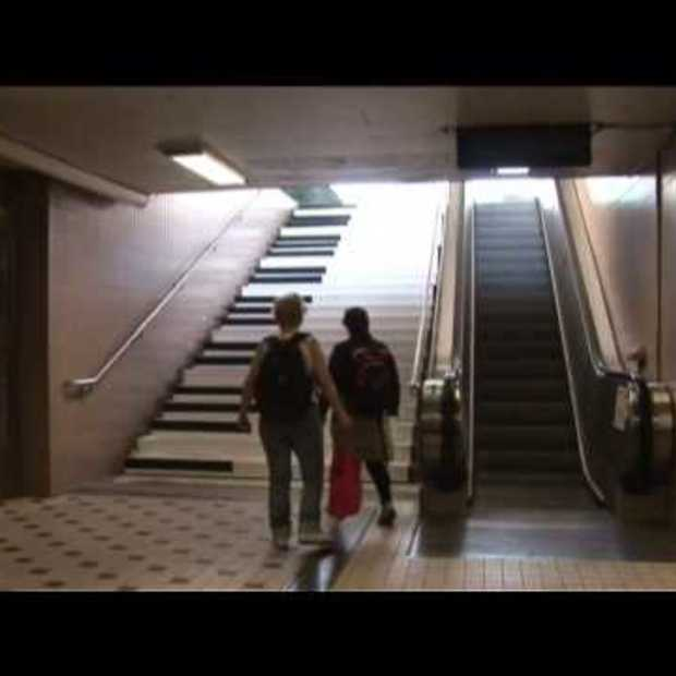 Piano Stairs motivatie om trap te nemen!
