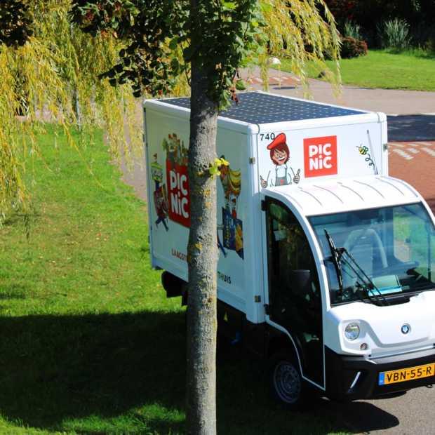 Online supermarkt Picnic introduceert bezorgwagens met zonnepanelen