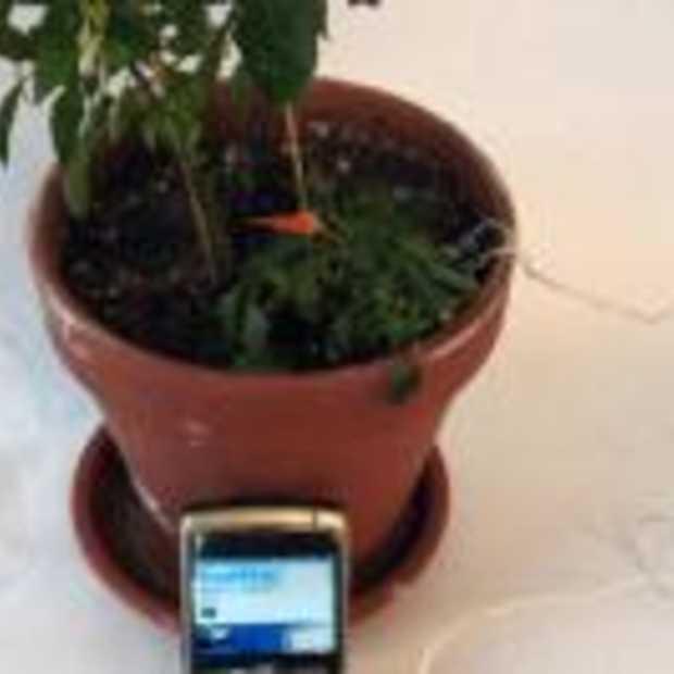 Plant water geven via Botanicalls Twitter