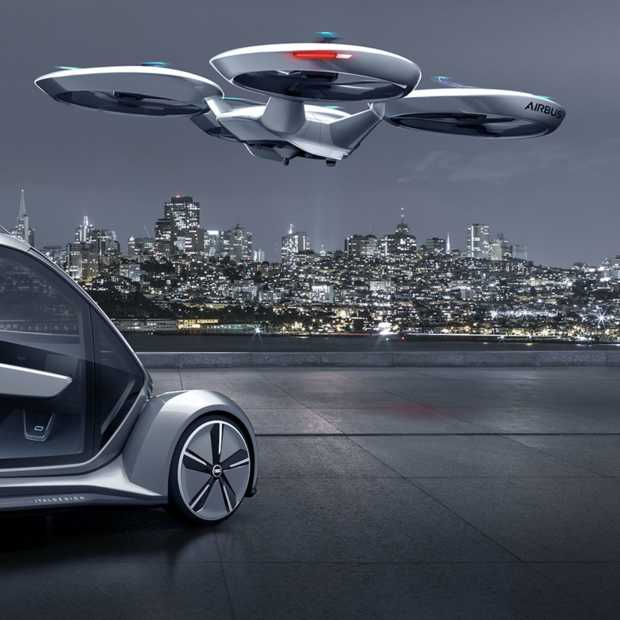 Pop Up Next transporter concept: Audi stopt met auto's want we gaan vliegen