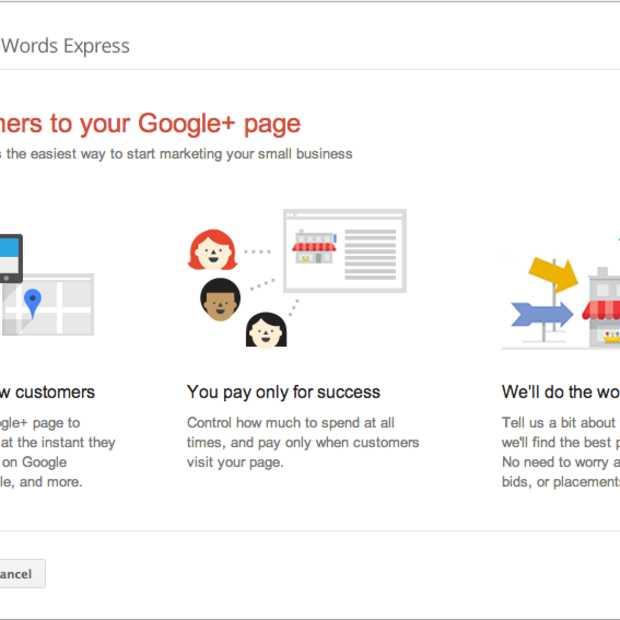 Promotie Google+ Pagina via Adwords Express