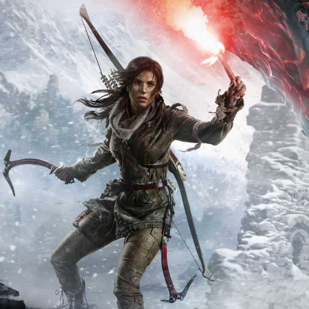 Gespeeld op First Look: Rise of the Tomb Raider