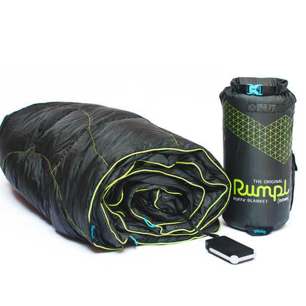 De Rumpl Puffe is een verwarmde high-tech deken op batterijen