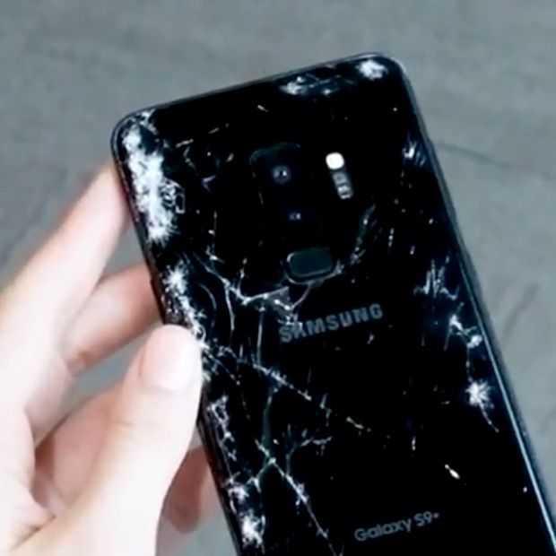 Video: Zo ziet je Samsung Galaxy S9 er uit na een flinke val