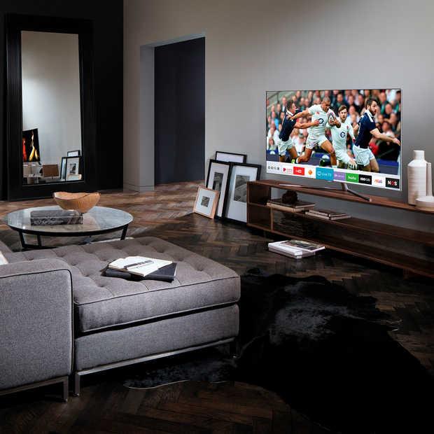 Max Verstappen of jouw favoriete voetbalclub in actie op een QLED TV