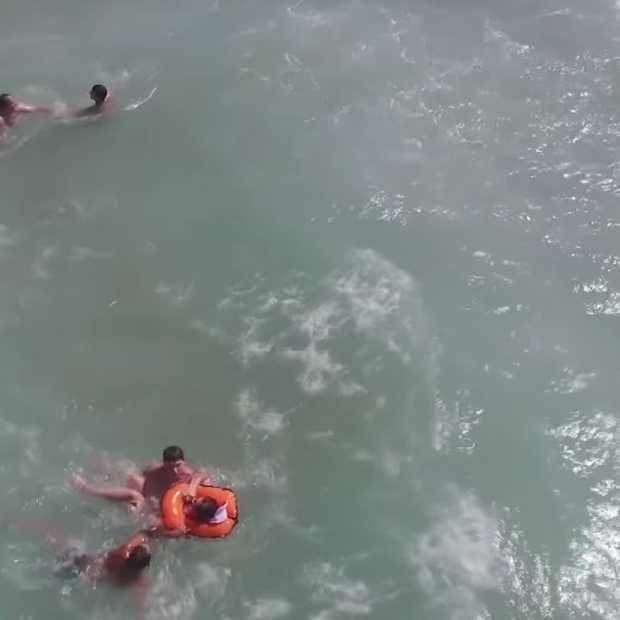 Drone helpt zwemmer bij reddingsactie Valencia