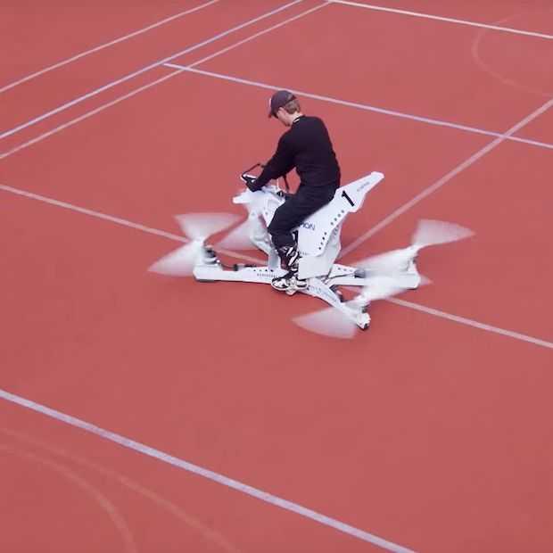 De Hoversurf is een echte hoverbike, maar lijkt nogal gevaarlijk
