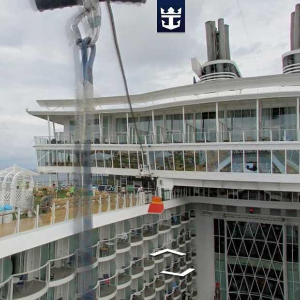 Google voegt Streeview beelden toe van Royal Caribbean Cruise Ship