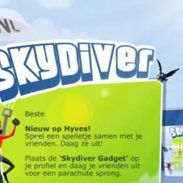 Skydiver erg populair op Hyves