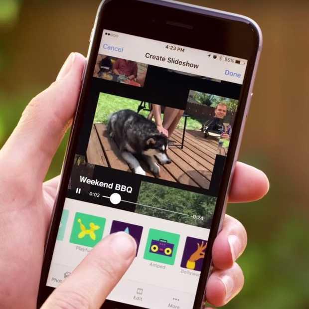 Slideshow: diavoorstellingen maken van foto's op Facebook