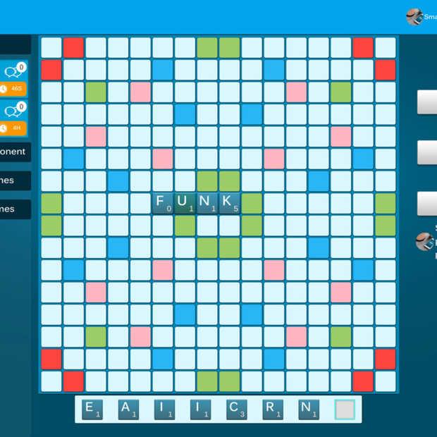 SmartFeud: lijkt op Wordfeud maar dan ook met 3 tot 4 spelers