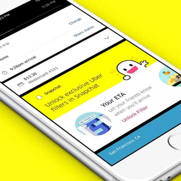 Snapchat en Uber komen met speciale filters