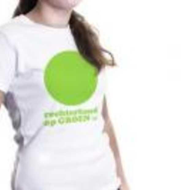Social Media Shirt:'Rechterhand op groen'