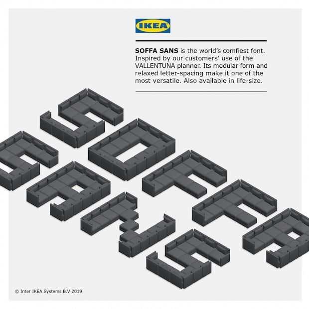 IKEA lanceert nieuw lettertype SOFFA SANS