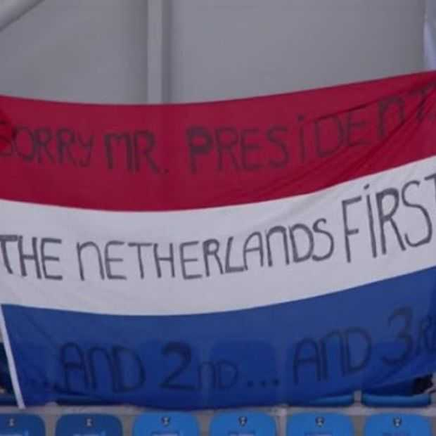 Publiek Winterspelen en NOS trollen Trump met 'Netherlands first'