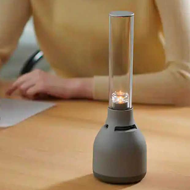 Sony komt met glazen speaker die lijkt op een kaars