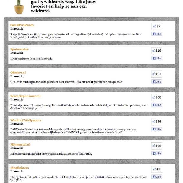 SpinAwards wildcard nominaties voor World of Wallpapers, Spotmeister en Zowerktpensioen