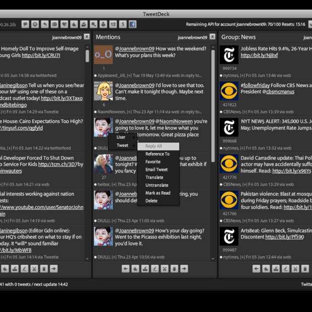 Stekker eruit voor TweetDeck mobile op 7 mei