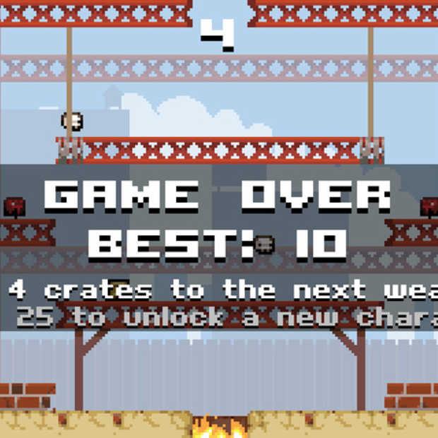 Super Crate Box past bijna precies op iOS